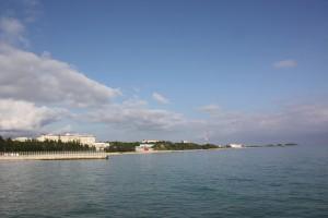 辺野古から見る新基地建設予定地