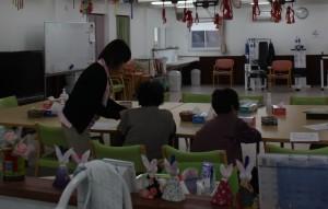 サポートセンター「あづまっぺ」を利用する仮設住宅の人たち
