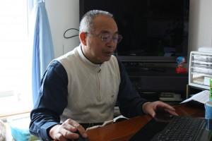 鴫原・長泥区長(福島市内の借り上げ住宅で)
