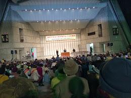 日比谷野外音楽堂での集会の様子(4月8日)
