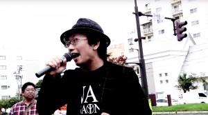 スピーチする山岸孝輝さん