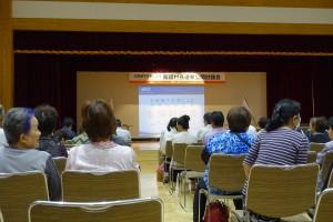 10月2日には、立候補予定者による村長選挙の公開討論会があった=主催・原町青年会議所