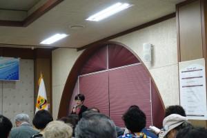 司会は日本に留学経験のある金貞禮(キム・ジョンレ)全南大学校教授がつとめた