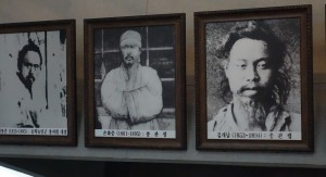 左から全琫準、孫化中(ソン・ファチュン)、金開男(キムゲナム)